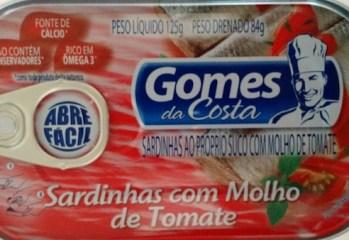 Sardinhas com Molho de Tomate Gomes da Costa