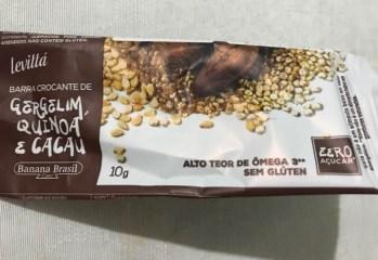 Barra de Sementes Gergelim e Quinoa Crocante Levittá Banana Brasil
