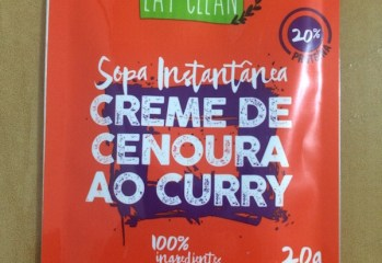 Sopa Instantânea Creme de Cenoura ao Curry Eat Clean