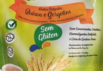 Palitos Salgados Quinoa e Gergelim Leve Crock