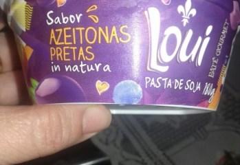 Pasta de Soja Sabor Azeitonas Pretas Loui