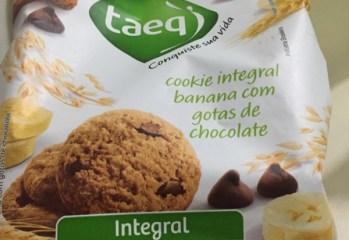 Cookie Integral Banana com Gotas de Chocolate Taeq