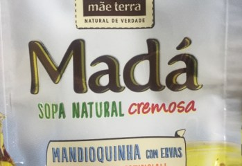 Sopa Natural Cremosa Mada Mandioquinha com Ervas Mae Terra