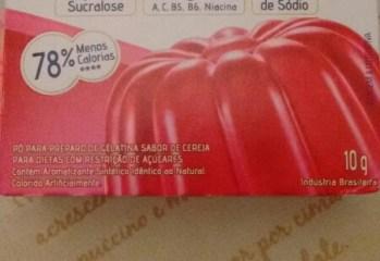 Gelatina de Cereja Zero Linea Sucralose