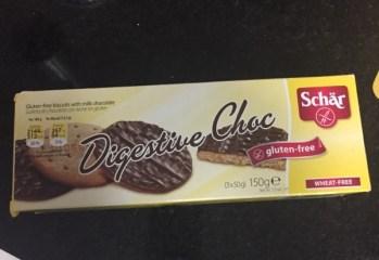 Biscoitos Digestive Choc Schär