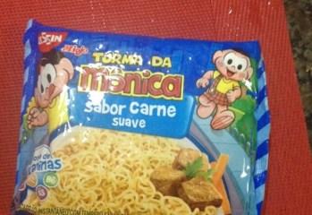 Macarrão Instantâneo sabor Carne Suave Turma da Mônica Nissin Miojo