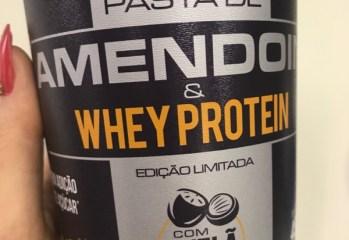 Pasta de Amendoim e Whey Protein com Avela Mandubim