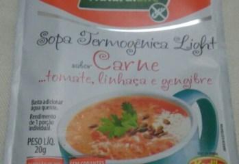 Sopa Termogenica Light Sabor Carne com Tomate Linhaca e Gengibre Natural Life