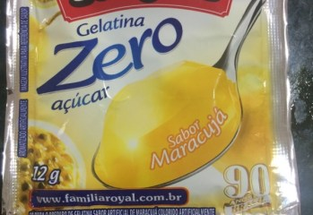 Gelatina Sabor Maracuja Zero Royal