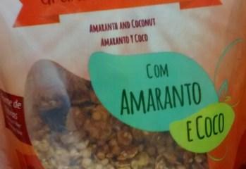 Granola Sem Gluten com Amaranto e Coco Leve Crock
