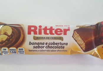 Barra de Cereais Banana e Cobertura Sabor Chocolate Ritter
