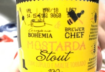 Mostarda Stout com Lupulo e Malte Torrado Brewer Chef