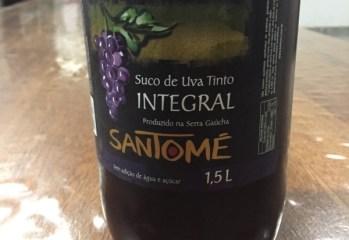 Suco de Uva Tinto Integral Santomé