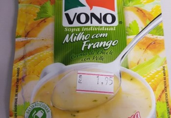 Sopa Milho com Frango Vono Ajinomoto