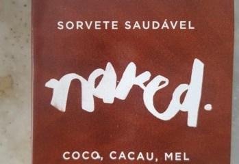 Sorvete Coco, Cacau, Mel e Agua de Coco Naked