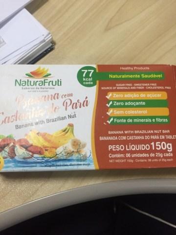 Bananada com Castanha do Pará em Tablete Natura Fruti