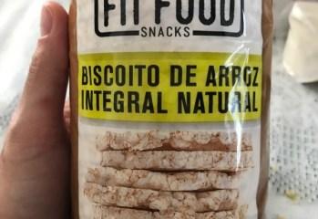 Biscoito de Arroz Integral Natural Fit Food