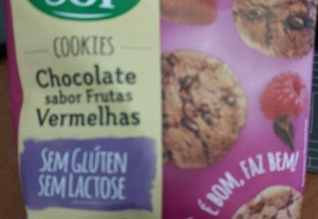 Cookies Chocolate Sabor Frutas Vermelhas Good Soy
