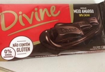 Chocolate Meio Amargo 50% Cacau Divine