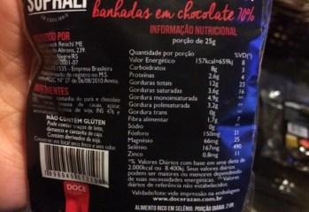 Castanhas do Pará Banhadas em Chocoalte 70% Suprali