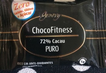 Chocolate 72% Cacau Puro ChocoFitness Zero Genevy