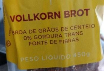 Broa de Grãos de Centeio Vollkorn Brot Charlotte