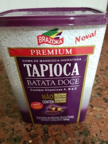 Tapioca com Farinha de Batata Doce Roxa Brazoka