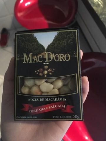 Nozes de Macadâmia Torrada e Salgada Mac D'oro