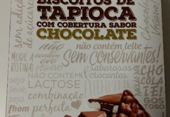 Biscoitos de Tapioca com Cobertura Sabor Chocolate Fhom