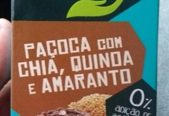 Paçoca com Chia, Quinoa e Amaranto Cuida Bem