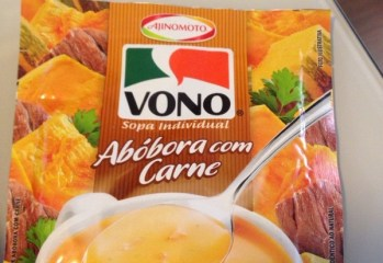 Sopa Cremosa Abóbora com Carne Vono Ajinomoto