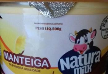 Manteiga de Primeira Qualidade Com Sal Natura Milk