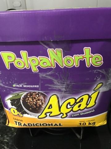Açaí com Guaraná Tradicional Polpa Norte