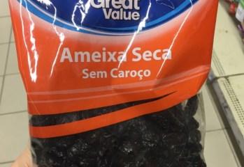 Ameixa Seca Sem Caroco Great Value