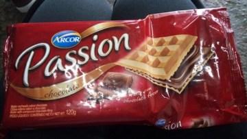 Wafer Recheado Sabor Chocolate Passion Arcor