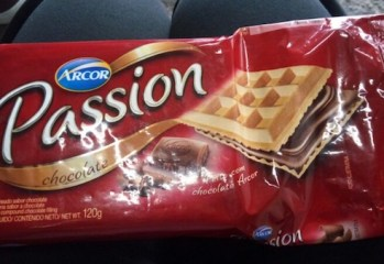 Wafer Recheado Sabor Chocolate Passion Arcor
