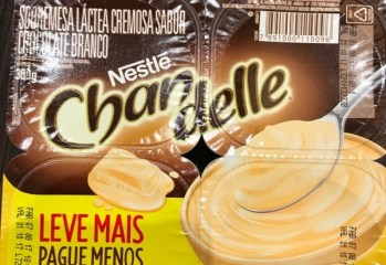 Sobremesa Chandelle sabor Chocolate Branco Nestlé