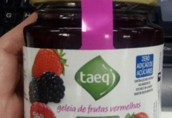 Geleia de Frutas Vermelhas Zero Taeq