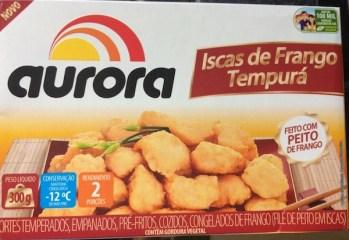 Iscas de Frango Tempurá Aurora