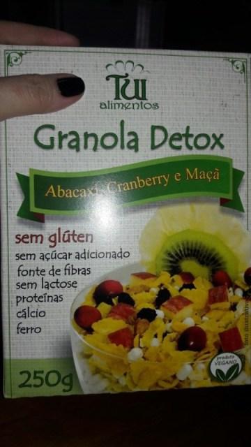 Granola Detox Abacaxi, Cranberry e Maçã Tui Alimentos