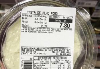 Pasta de Alho Poró Hortigil Hortifruti