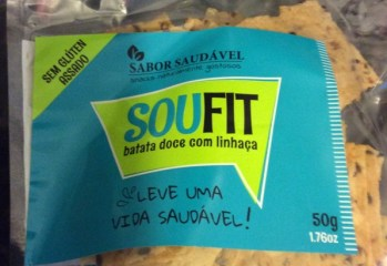Snack Soufit Batata Doce com Linhaça Sabor Saudável frente