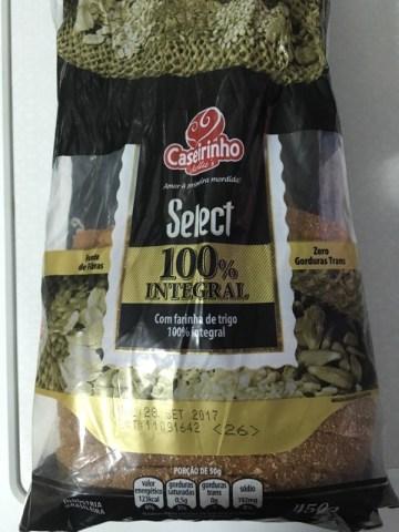 Pão Select 100% Integral Caseirinho