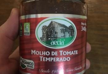 Molho de Tomate Temperado Orgânico Aecia