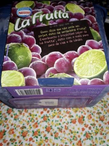 Sorbet Uva e Limão La Frutta Nestlé