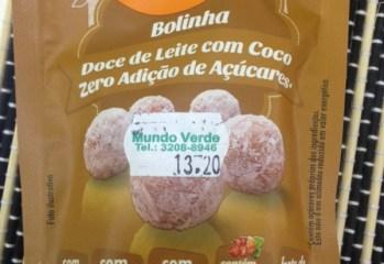 Bolinha Doce de Leite com Coco Zero Açúcar Flormel
