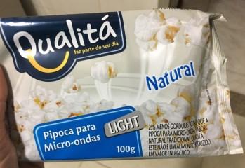 Pipoca para Micro-ondas Light Natural Qualitá