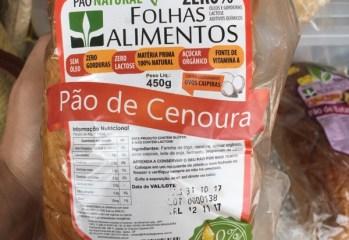 Pão de Cenoura Zero Folhas Alimentos