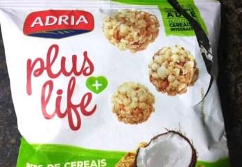 Bits de Cereais Castanhas e Coco Plus Life Adria