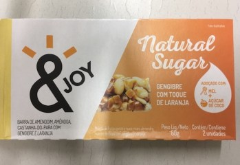 Barra Gengibre com Toque de Laranja Natural Sugar & Joy